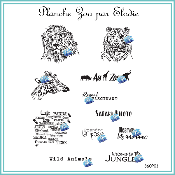 Planche zoo
