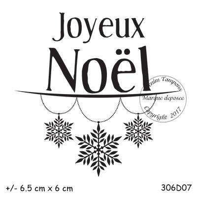 Tampon Joyeux Noel 2. de 2 à 4.99 € : TAMPON JOYEUX NOEL FLOCONS par Meldon
