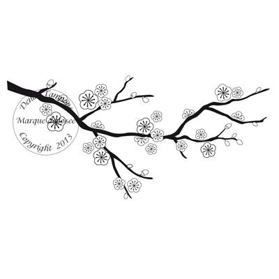 2 de 2 tampon branche de cerisier par sophie for Achat branche bois
