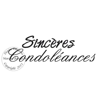 Tampon Sinceres Condoleances Par Meldon Detail